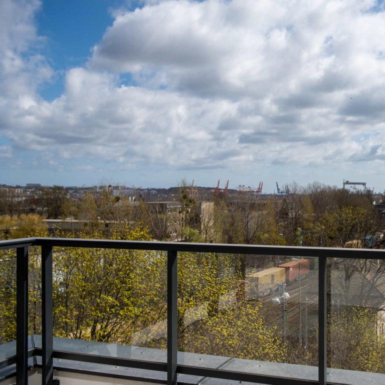 Panorama z balkonu | Osiedle STO10 Chylońska w Gdyni